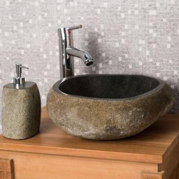 Vasque à poser en pierre naturelle