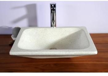 Vasque rectangulaire blanche