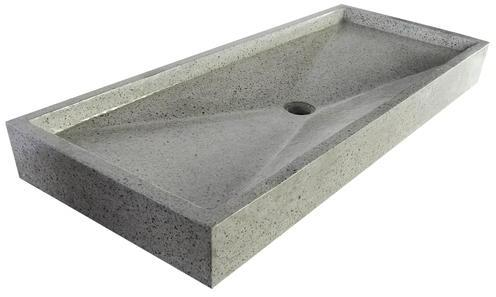 Grand plan vasque gris