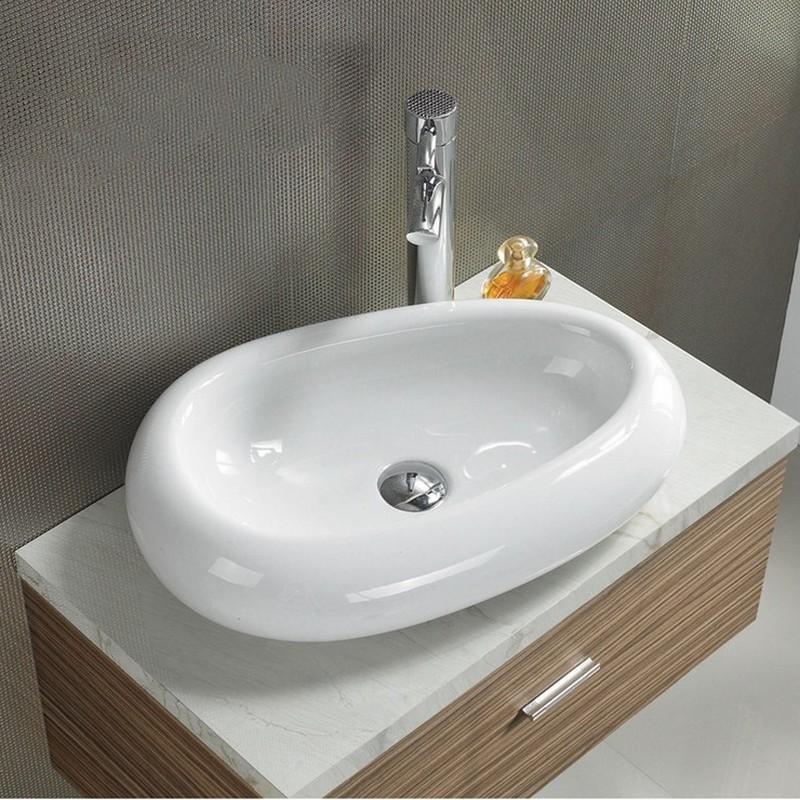 Vasque à Poser Ovale Galet