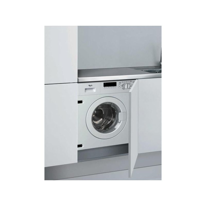 whirlpool lave linge intgrable 60cm 6kg a blanc awod060. Black Bedroom Furniture Sets. Home Design Ideas