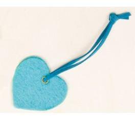 Coeur feutrine avec lacet