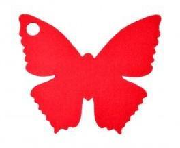 Marque place papillon rouge