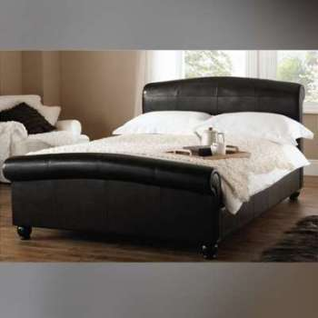 Lit design Appoline noir 140cm