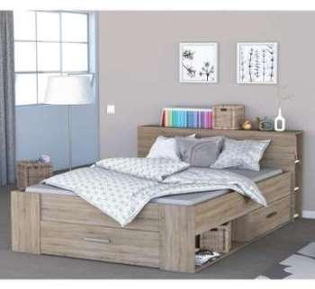 Lit en bois avec tiroir imitation