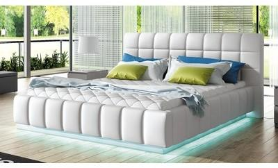 Lit lumineux blanc 160x200