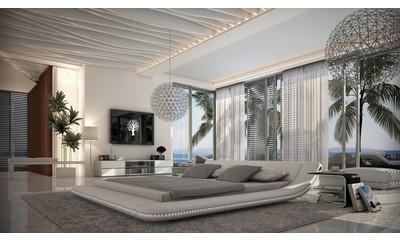 Lit design blanc LED 200x200