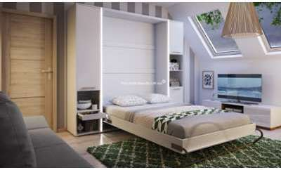 Lit escamotable vertical 140x200