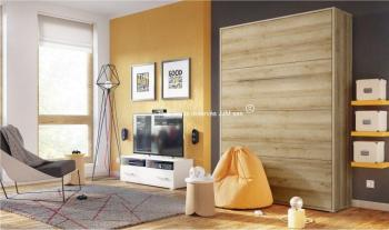 Lit mural escamotable vertical