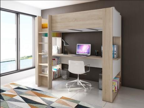 Lit mezzanine NOAH avec bureau