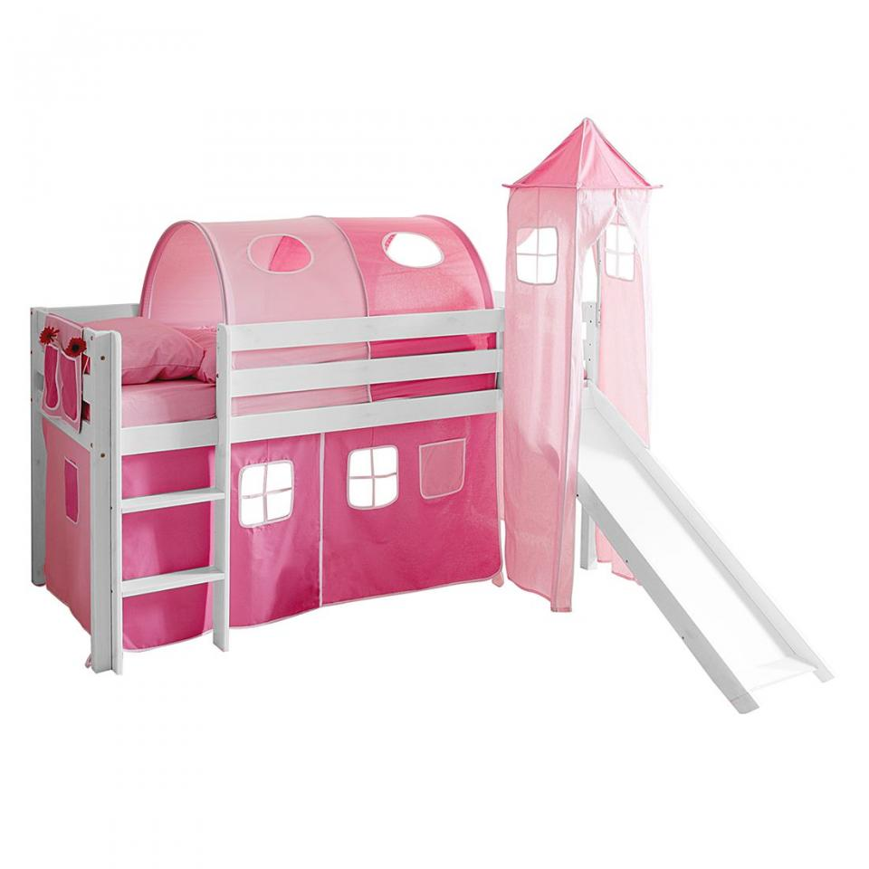 lilliputiens tour de lit rose 150 x 42 cm liz. Black Bedroom Furniture Sets. Home Design Ideas