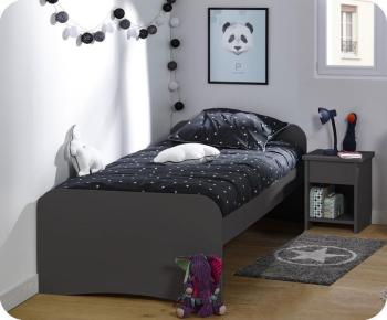 Lit enfant Twist Gris Anthracite
