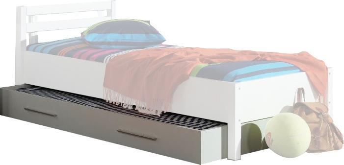 Tiroir-lit coloris blanc pour