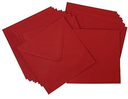 Cartes carrées enveloppes