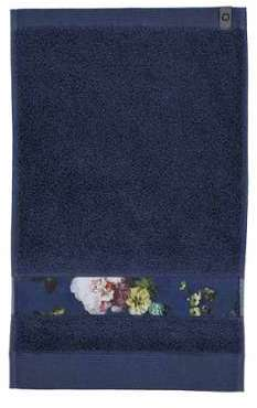Serviette invité Fleur Bleu