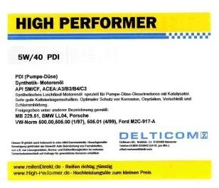 Pneu High Performer 5W-40