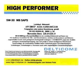 Pneu High Performer 5W-30