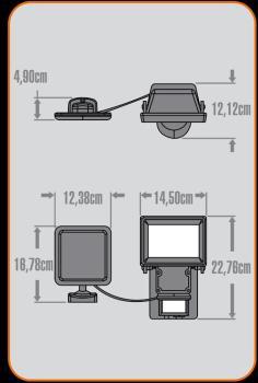 Projecteur sécurité extérieur