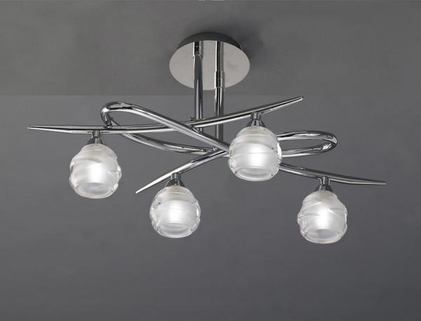 Plafonnier 4 lampes design