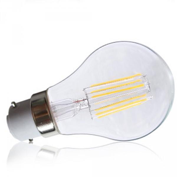 ampoule led 8w 55w b22 filament bulb claire blanc chaud 2700k. Black Bedroom Furniture Sets. Home Design Ideas