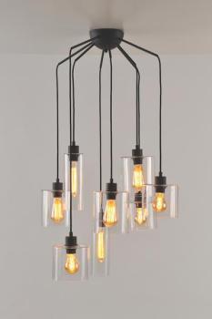 Lustre 8 lampes design Market