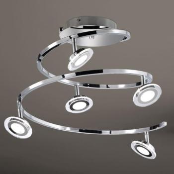 Lustre 5 lampes led Wofi Chloe