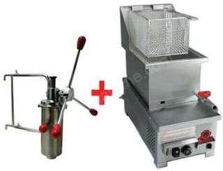 Machine à churros avec friteuse