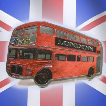 Magnet métalisé bus Anglais