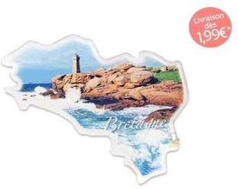 Aimant carte de Bretagne Côte