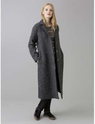 Manteau femme laine bouillie