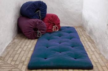 Matelas futon d appoint bleu