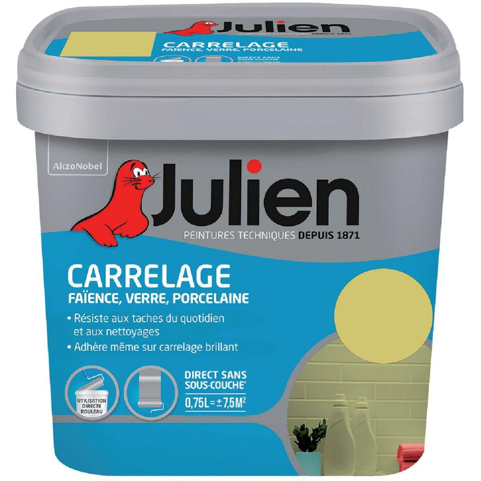 Julien c dec rouge sang 507016 for Peinture carrelage vert