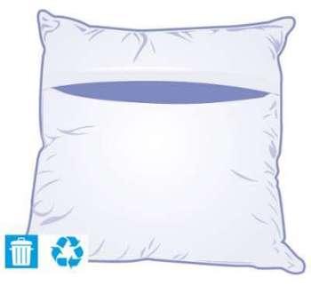 bultex protge oreiller 52x33 cm hypoallergenique. Black Bedroom Furniture Sets. Home Design Ideas