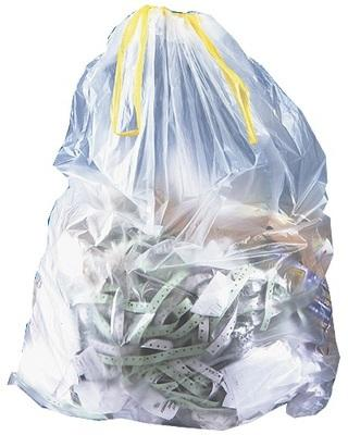Sac poubelle en PE transparent