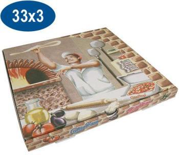 Boite pizza en carton 33x33x3