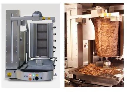 Robot machine Kebab à gaz
