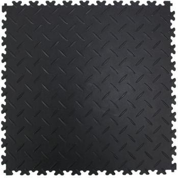 Dalles PVC diamant noir