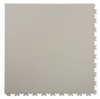 Dalles PVC aspect cuir gris