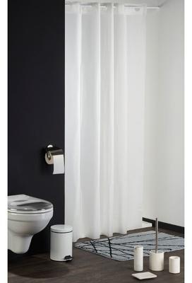 Ferm rideau de douche en coton et acrylique triangle l - Rideau de douche textile ...