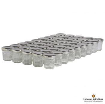 45 pots verre facettes 50