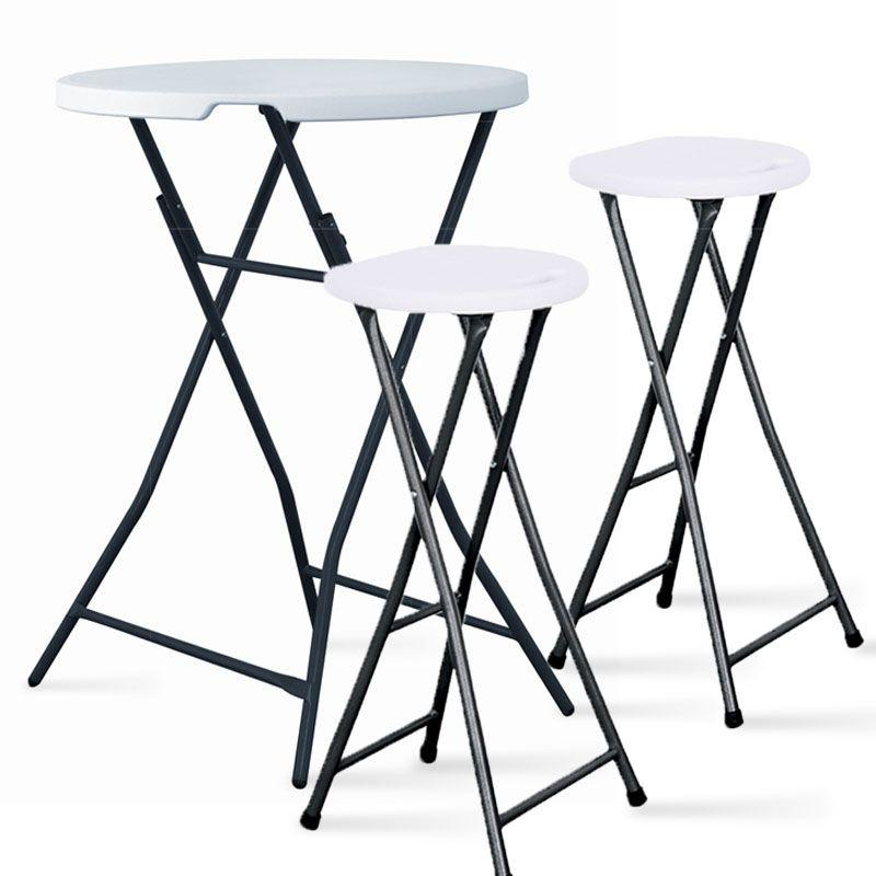 table haute de bar mange debout pliant diam 80 cm mobeventpro. Black Bedroom Furniture Sets. Home Design Ideas