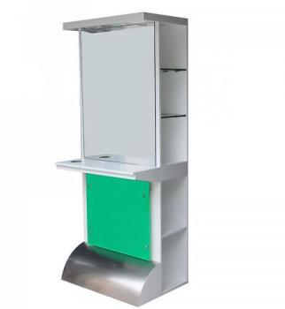Hudson radiateur miroir keida blanc 1600 x 420mm 935 wa for Coiffeuse miroir lumineux