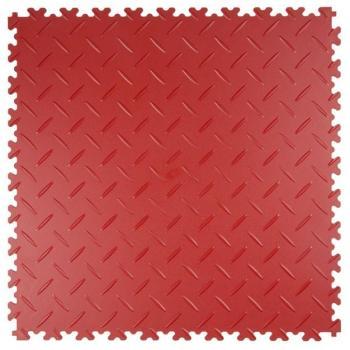 Dalles PVC diamant rouge
