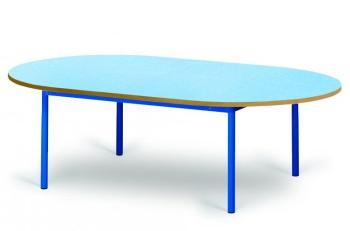 ovali table ronde ou ovale blanc. Black Bedroom Furniture Sets. Home Design Ideas