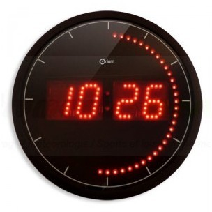 conforama horloge orium 30 cm leds rouges. Black Bedroom Furniture Sets. Home Design Ideas