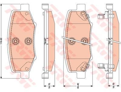 TRW - Kit de plaquettes de