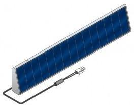 Panneau solaire volet roulant