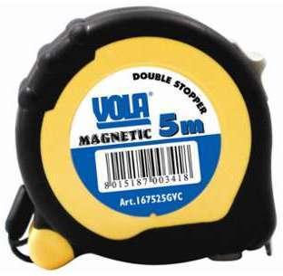 Metre à ruban magnétique bi-matière