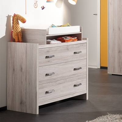 commode 4 tiroirs bazic4t finition laqu blanc et poignes chromes. Black Bedroom Furniture Sets. Home Design Ideas