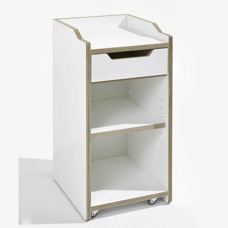 Recherche tiroir du guide et comparateur d 39 achat for Meuble bureau sur roulettes